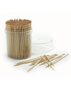 Norpro Ornate Wood Toothpicks With Clear Plastic Holder