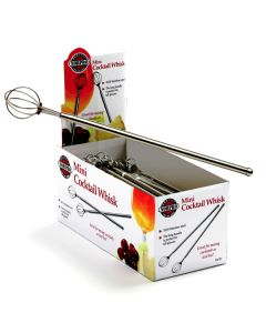 Norpro Cocktail Whisks, display of 36