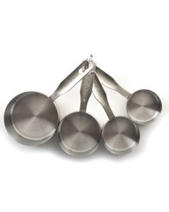 Norpro Measuring Cups With Metric Equivalents, 4 piece set