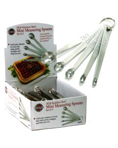 Norpro Mini Measuring Spoons, 5 piece set, display of 36