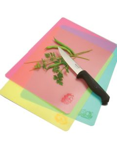 Norpro Color & Icon Cut 'n Slice Flexible Cutting Boards, 3 piece set