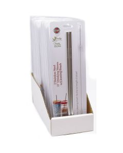 Norpro 473 Straws s/s packaging carded 18pc display