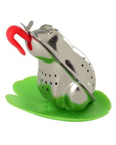 Norpro S.S. Froggy Tea infuser with lily pad drip cup