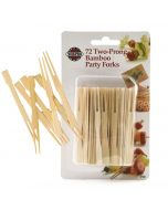 Norpro Bamboo Party Forks, 72 pieces