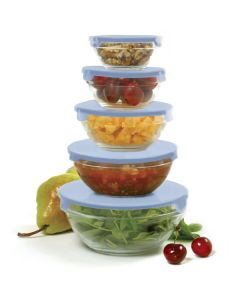 Norpro Nesting Glass Bowls, 10 piece set