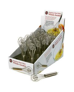 Norpro S/S mini whisk-aerator, dsp of 18