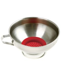 Norpro Stainless Steel Funnel With Strainer