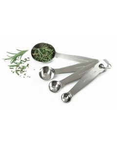 Norpro Measuring Spoons With Metric Equivalents, 4 piece set