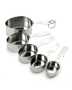 Norpro Measuring Cups With Metric Equivalents, 5 piece set