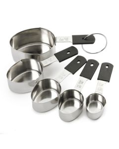 Norpro Grip-EZ Measuring Cups With Metric Equivalents, 5 Piece Set