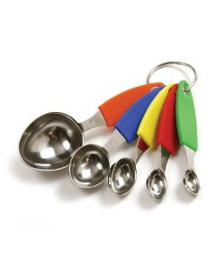 Norpro S/S Measuring Spoons, Set of 5 with Silicone Handles