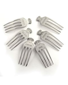 S/S Etched Cheese Markers and Forks