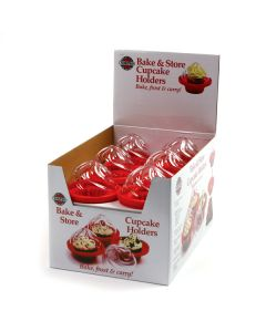Norpro Bake and Store Cupcake Holders, display of 12