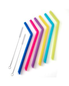 norpro  REUSABLE SILICONE STRAWS W/ 2 CLEANING BRUSHES