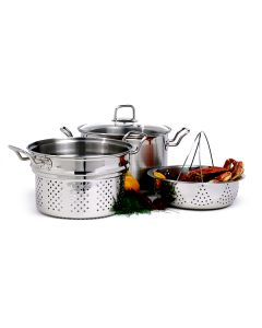 Norpro 8QT Steamer/Cooker, 4 piece set