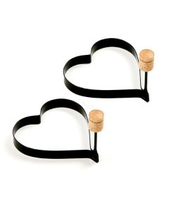 Norpro Pancake/Egg Rings, Set of 2, Heart shaped