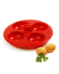 norpro red silicone 4 egg poacher