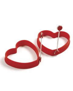 Norpro Silicone Egg/Pancake Rings, Set of 2, Red
