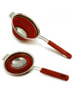 Norpro Silicone Knockdown Strainer, Red