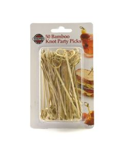 Norpro Bamboo Knot Picks, 50 pieces carded