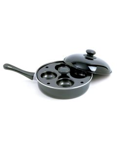 Norpro Nonstick Egg Poacher/Skillet Set with removable 4 egg poacher