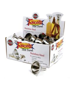Norpro My Favorite S/S Mini Funnels, 36 piece display