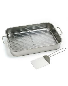 Norpro Stainless Steel Roasting Pan, 3 Piece Set.