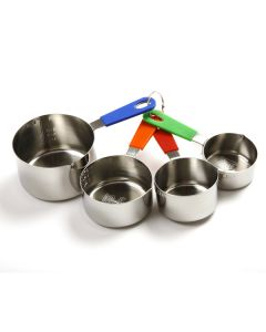 Norpro S/S Measuring Cup Set, with Silicone Handles