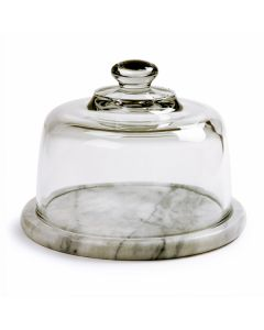 "Norpro 7.5"" Marble Cheese Board With Glass Dome"