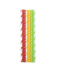 Norpro Paper Party Straws, Polka Dots, 100pcs