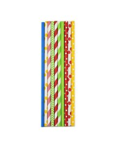 Norpro Paper Party Straws, Fiesta, Assorted Colors, 200pcs