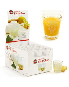 Norpro Measuring Shot Glasses, display of 24