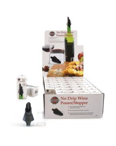 Norpro Wine Pourers/Stoppers, display of 40