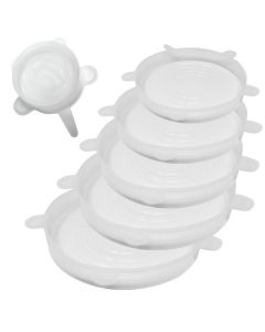 Norpro REUSABLE SILICONE LIDS, SET OF 6