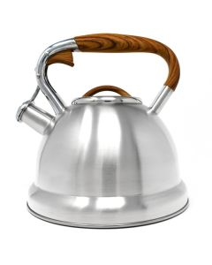 Norpro Stainless Steel Whistling Tea Kettle, 3.1L