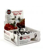 Norpro Stainless Steel Bag Clips, display of 48