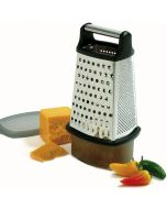 Norpro S/S 4-Sided Grater With Catcher and Lid, 3 piece set
